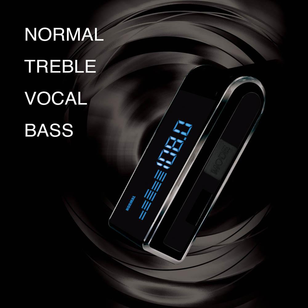 4つのモードから音質を選択