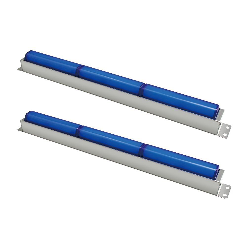 閃光車高灯専用ステーセット 3連 ブルー