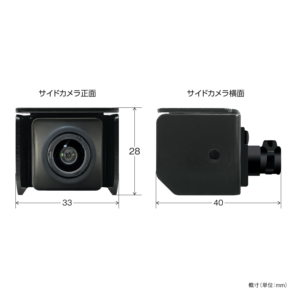 サイドカメラ本体サイズ