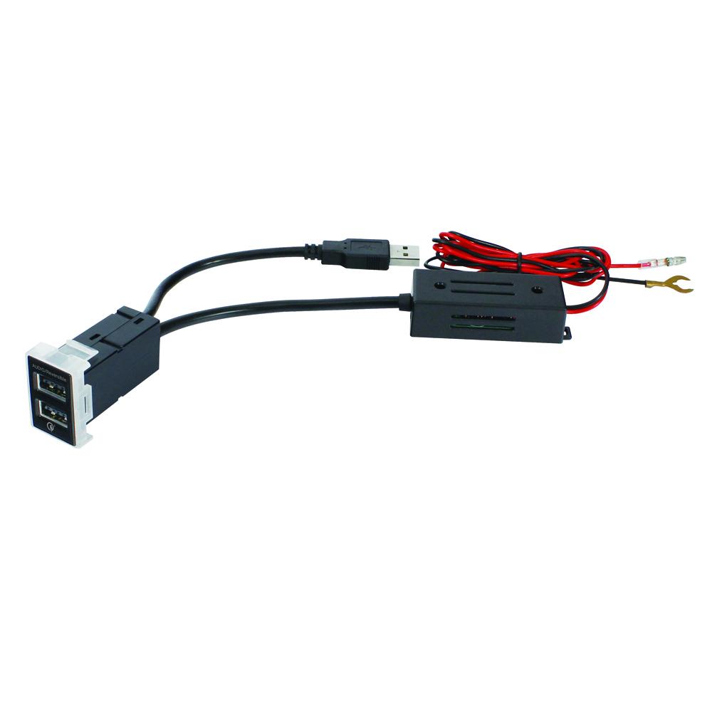 トヨタ車系用 リバーシブルUSBポート AUDIO+QC3.0