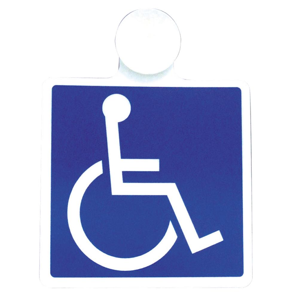 身障者マーク 吸盤 1枚入り