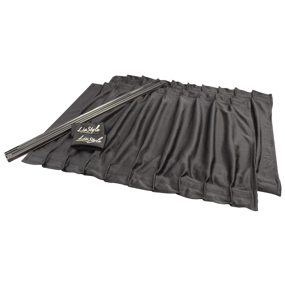 サイドカーテン ストレッチ2 BK S
