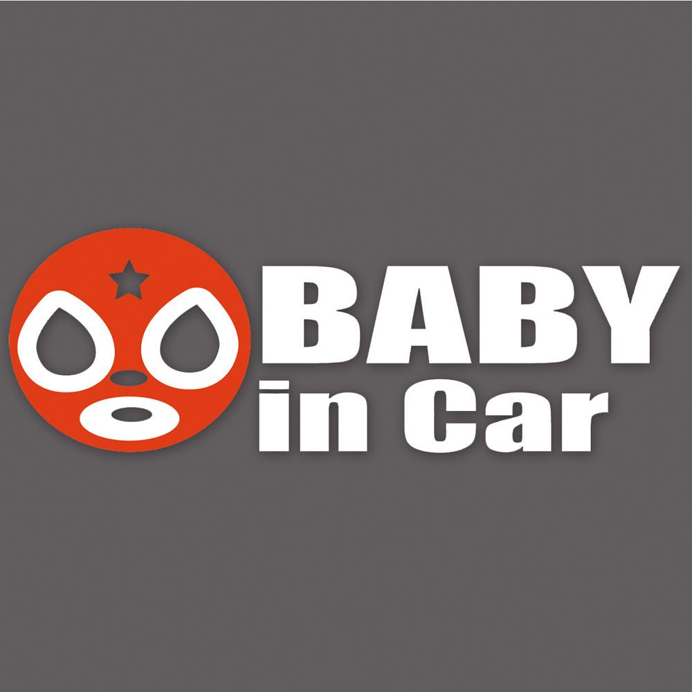 BABYステッカー外貼り マスクレッド