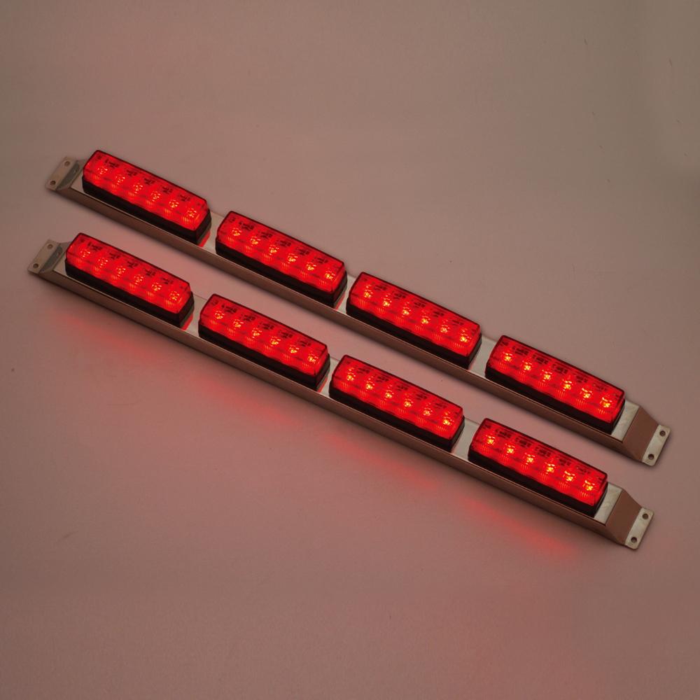 流星 Re6LED車高灯 4連セット レッド/レッド